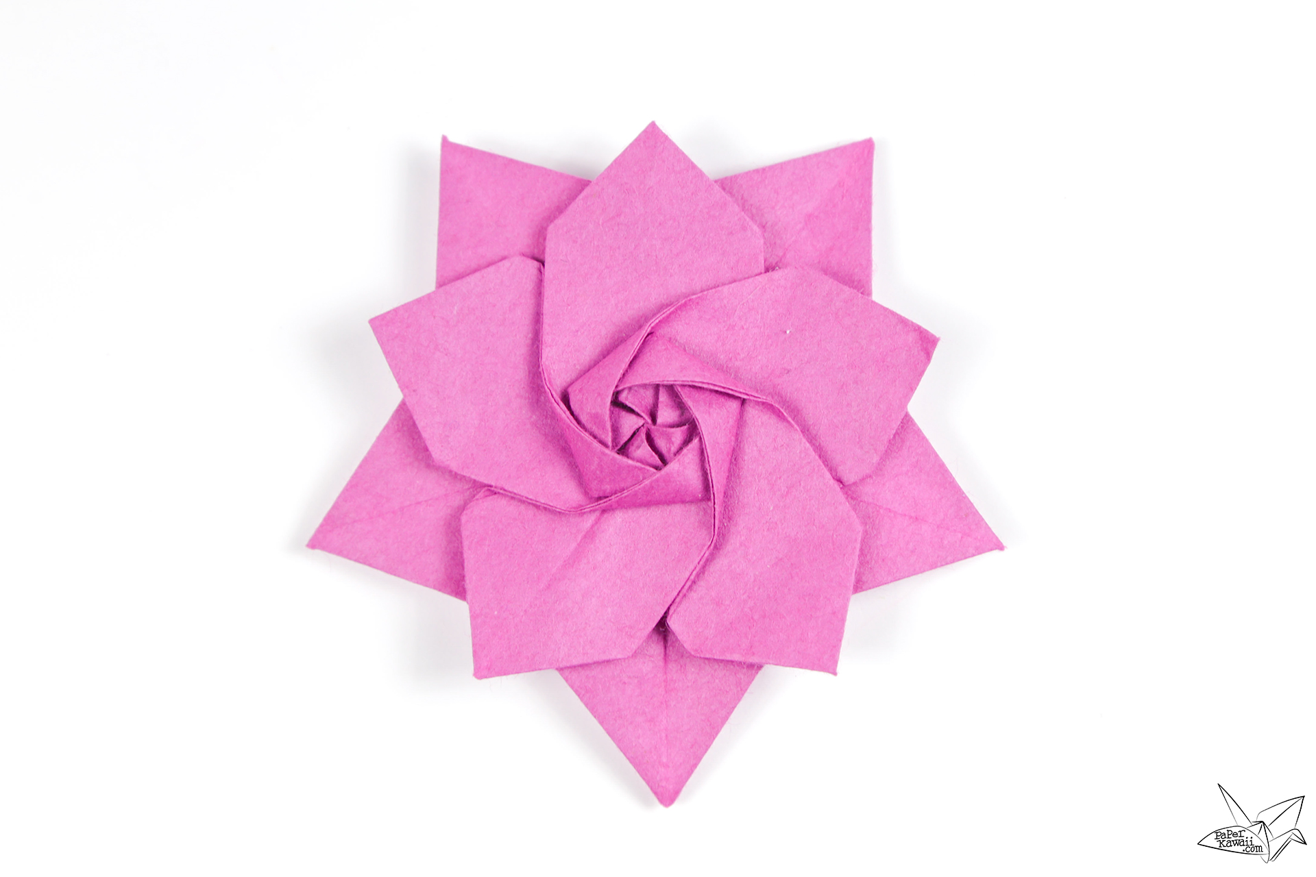 Origami Sakura Star Tutorial Designed By Ali Bahmani Paper Kawaii