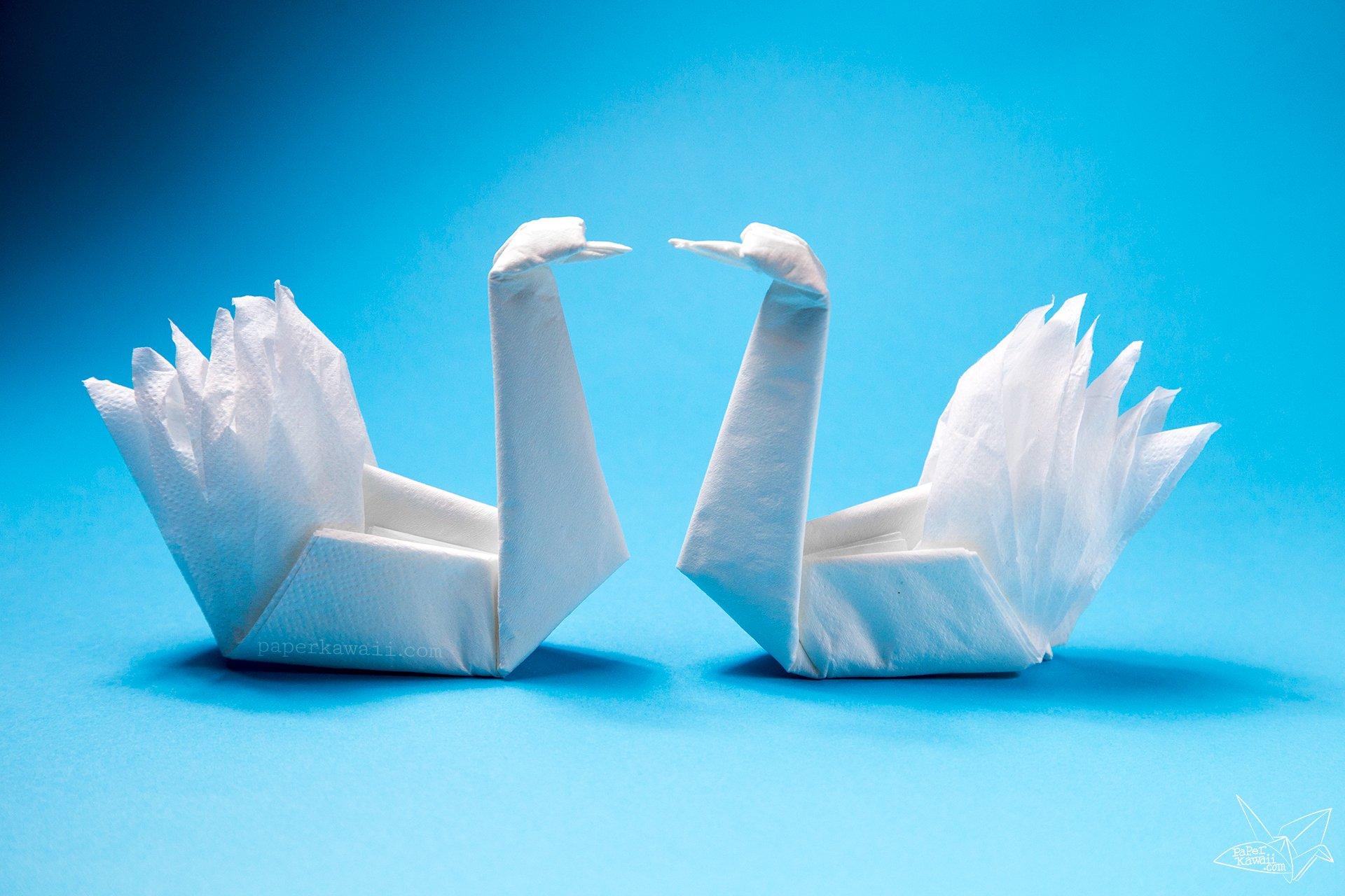 Easy Origami Napkin Swan Tutorial - Paper Kawaii - photo#20