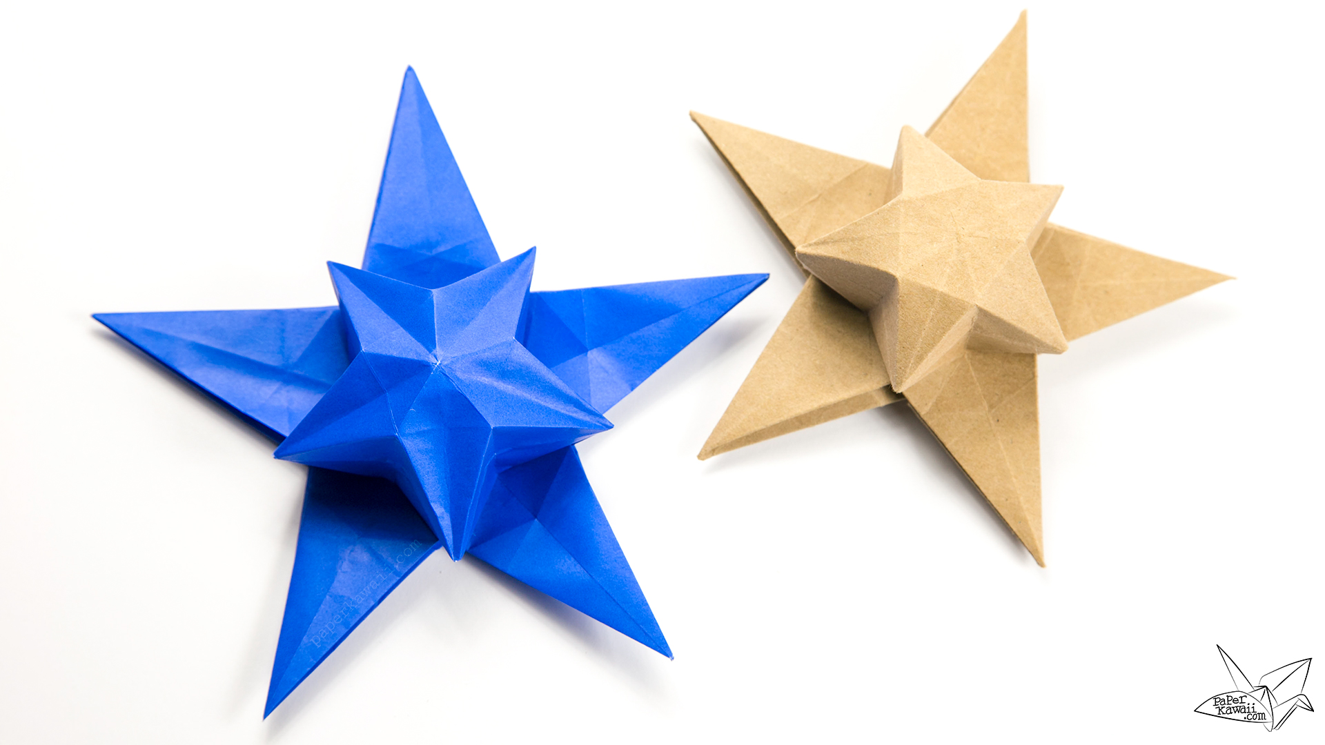 origami star puff tutorial philip chapmanbell paper
