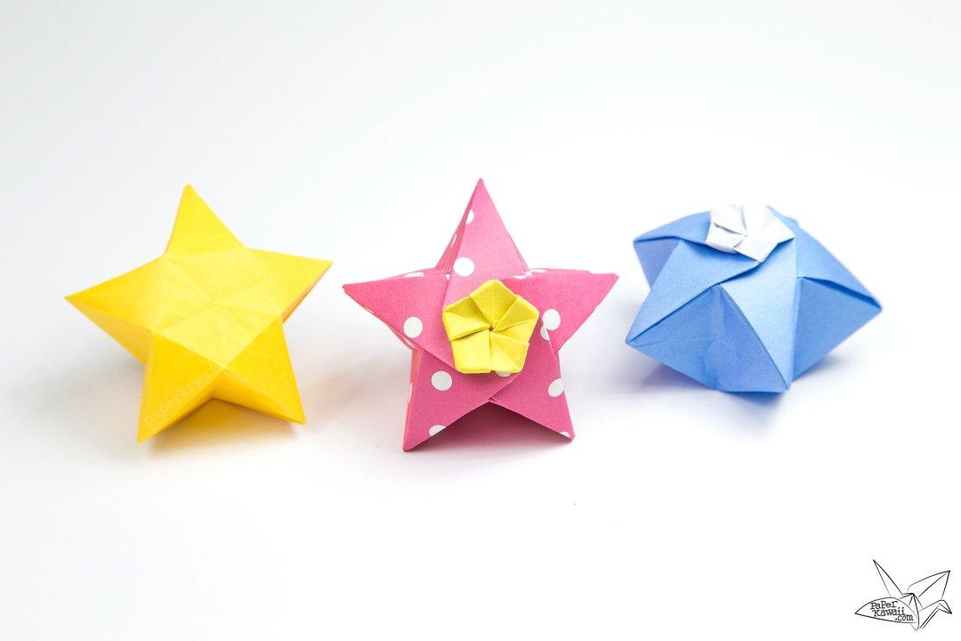 Origami Lucky Star Swirl Earrings Purple by PaperImaginations ... | 720x1080