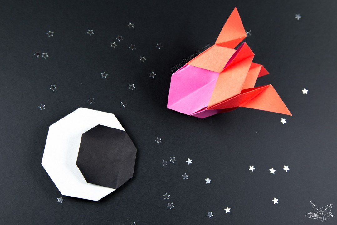Origami Crescent Moon Tutorial via @paper_kawaii