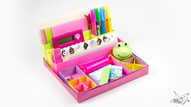 Origami Desk Organiser Tutorial – Nested Boxes