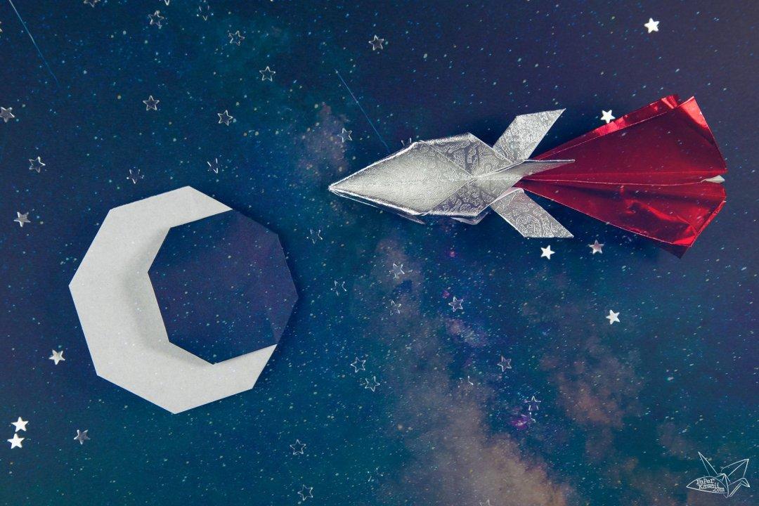 origami rocket ship instructions