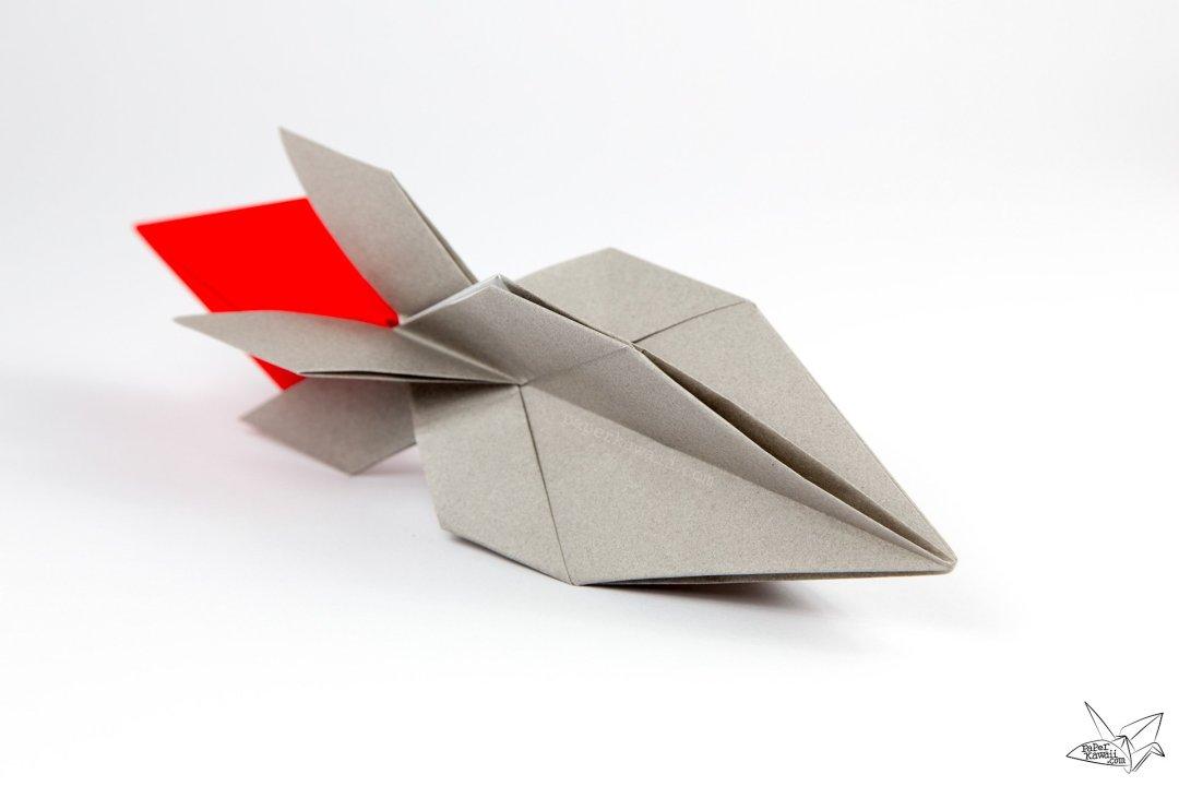 origami spaceship tutorial origami rocket paper kawaii