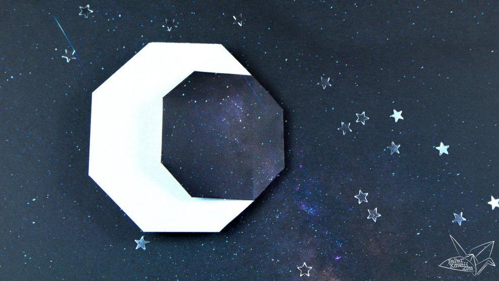 Origami Crescent Moon Tutorial via @paper_kawaii