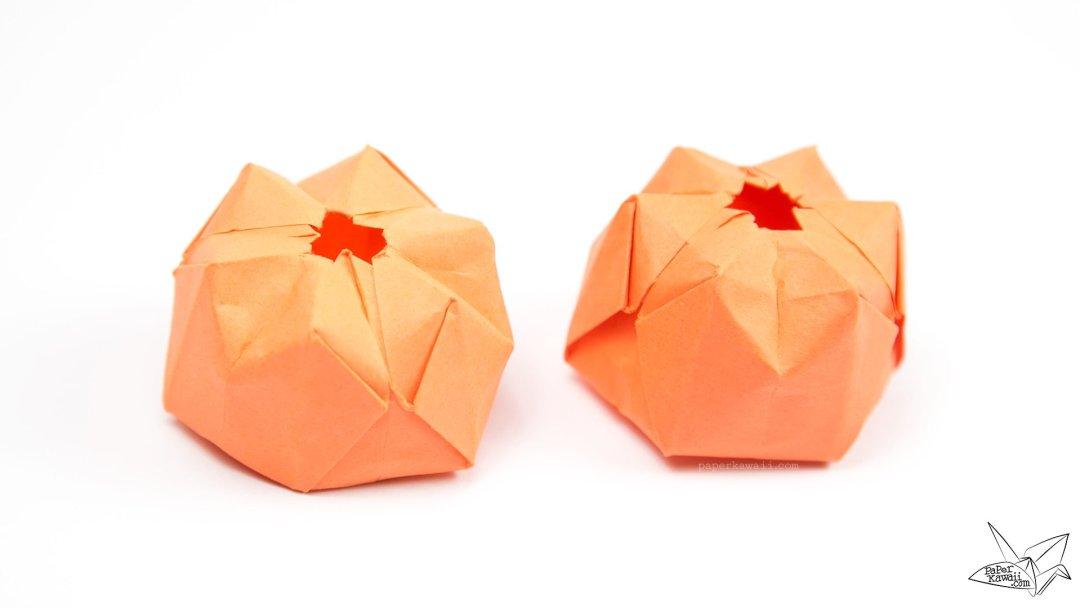 inflatable origami pumpkin tutorial halloween jack o