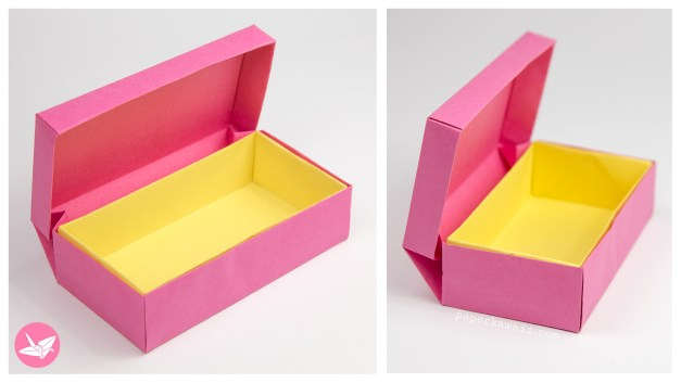 Origami Long Hinged Box Tutorial – Treasure Chest Box