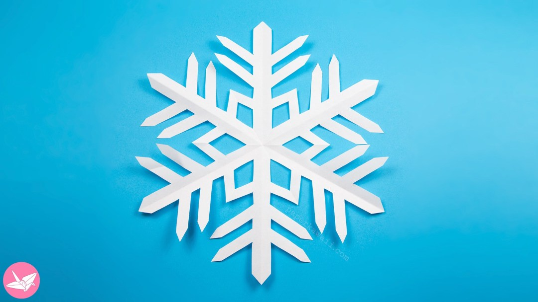 easy kirigami snowflake tutorial 6 pointed paper kawaii