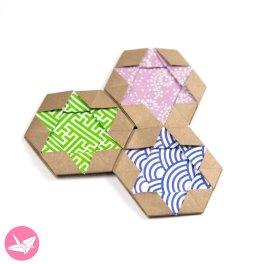 Origami Star of David Hexagram Coaster / Tiles / Tato