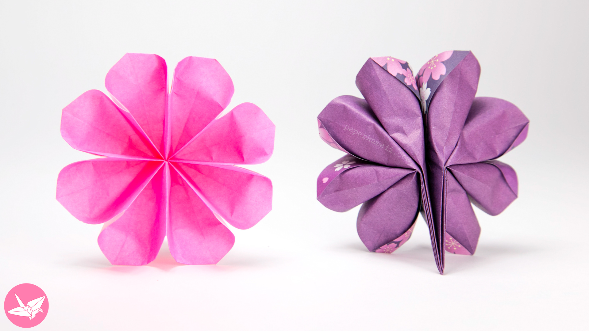 Easy 8 Petal Origami Flower Tutorial - Paper Kawaii - photo#30