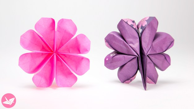 Easy 8 Petal Origami Flower Tutorial
