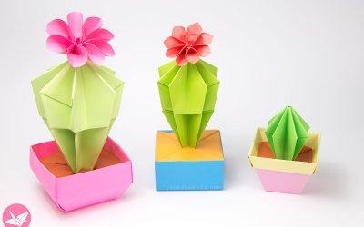 Origami Cactus & Flower Tutorial