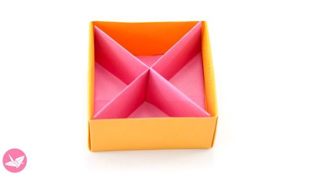 Origami Diagonal Box Divider Tutorial