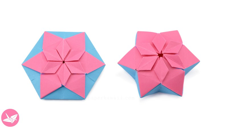 Origami 8 Point Star Tato Tutorial via @paper_kawaii