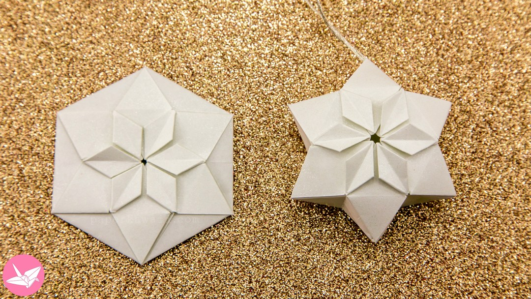 Origami Hexagonal Puffy Star Tutorial Paper Kawaii