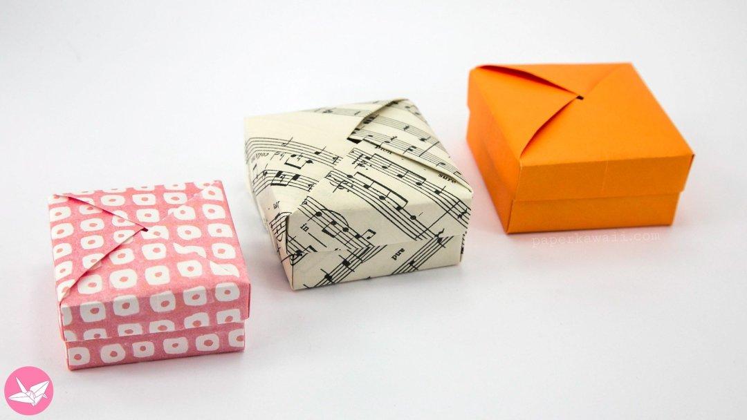 Origami Wrapped Lid & Box Tutorial - Non Modular via @paper_kawaii