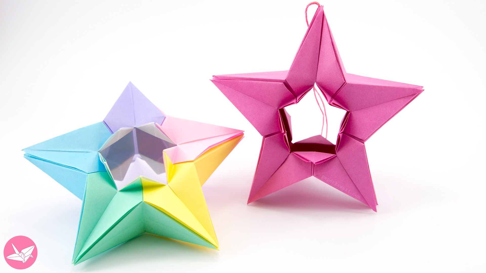 modular origami star tutorial salman ebrahimi paper kawaii