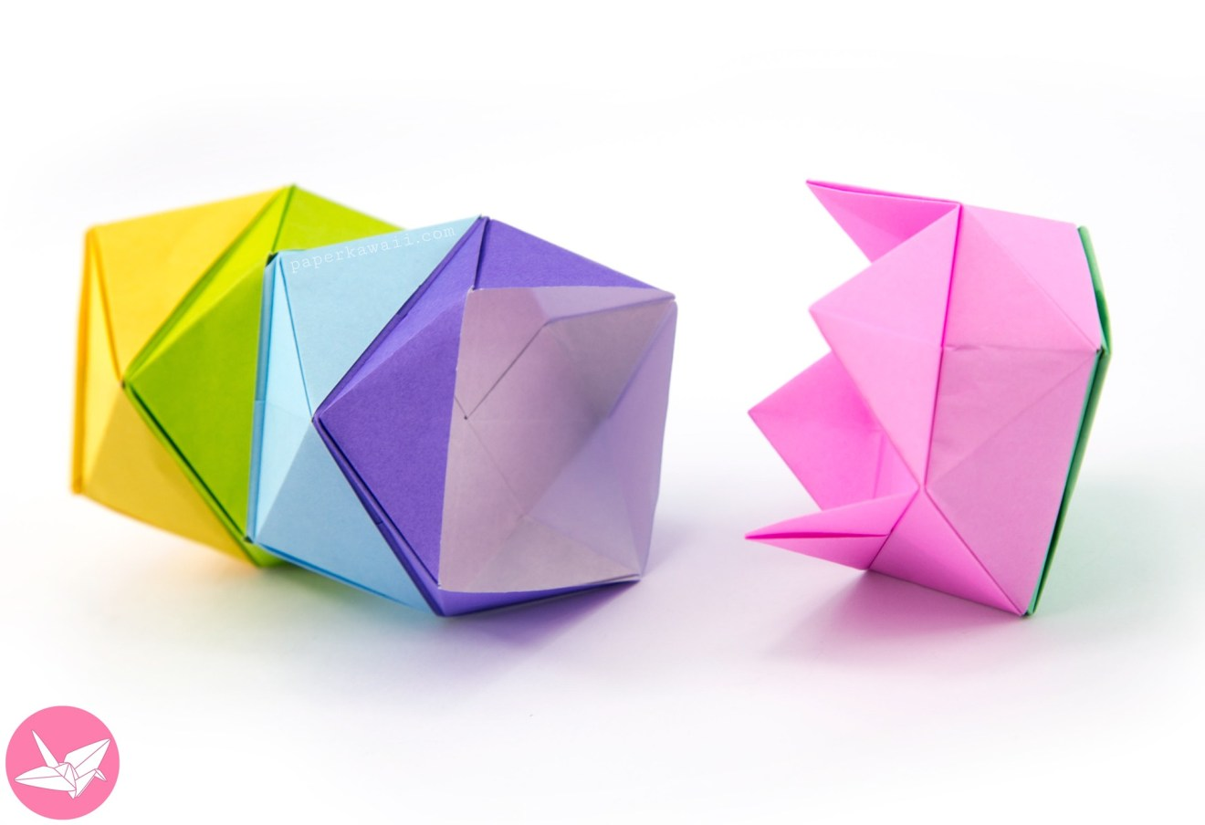 Origami Stacking Boxes Tutorial - Interlocking Box via @paper_kawaii