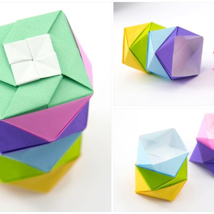 Pretty Origami Frame Lid Tutorial via @paper_kawaii