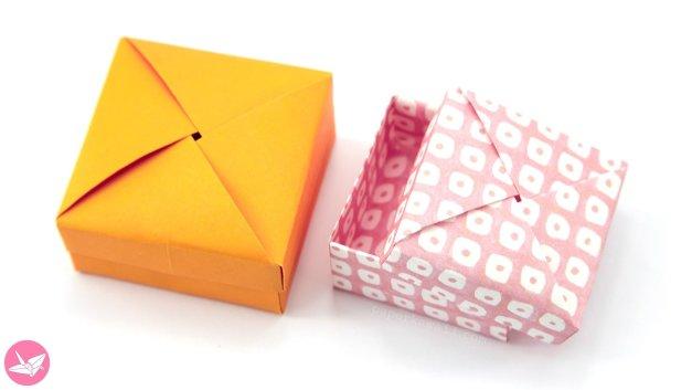 Origami Wrapped Lid & Box Tutorial – Non Modular