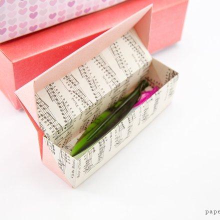 Origami Pencil Box Video Tutorial via @paper_kawaii