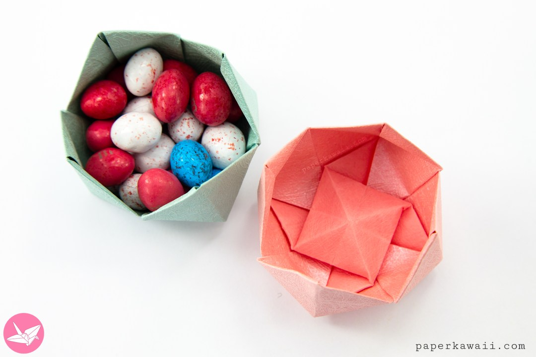 Origami pinwheel flower bowl tutorial paper kawaii learn how to make a pretty origami flower bowl or tulip this origami flower has a pinwheel design on the inside can be used as a little origami bowl for mightylinksfo