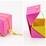 Hinged Origami Box – Cube Version Tutorial