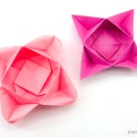 Origami Star Flower Bowl / Box Tutorial