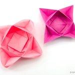 Origami Star Flower Bowl / Box Tutorial