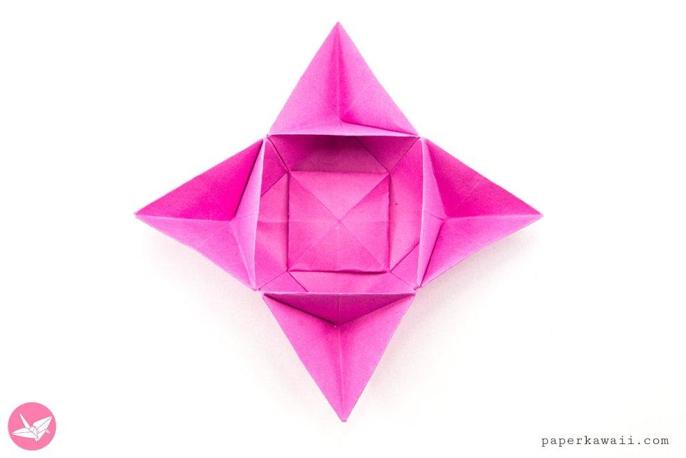 Origami Star Flower Bowl / Box Tutorial via @paper_kawaii