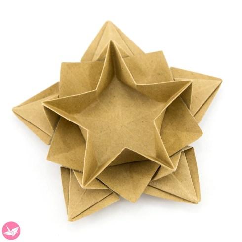 Origami Star Bowl Tutorial (Masoud Hosseini) via @paper_kawaii