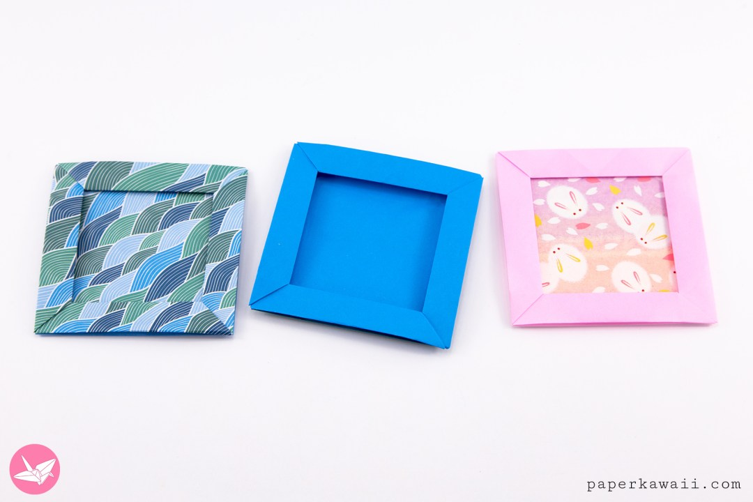 Origami Pop Up Picture Frame Boxes Tutorial Paper Kawaii