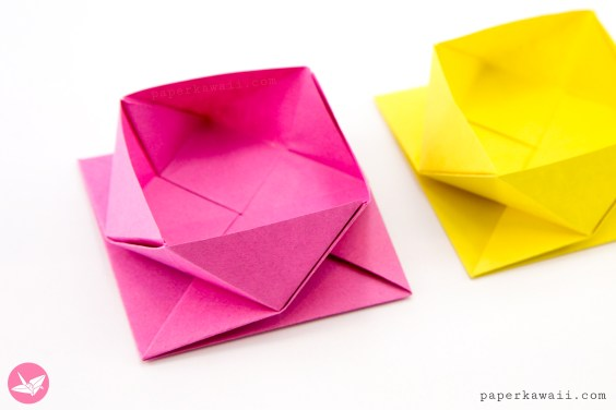 Origami Square Twist Box Tutorial