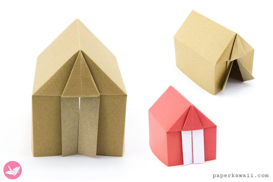 Origami Tent or House Tutorial via @paper_kawaii