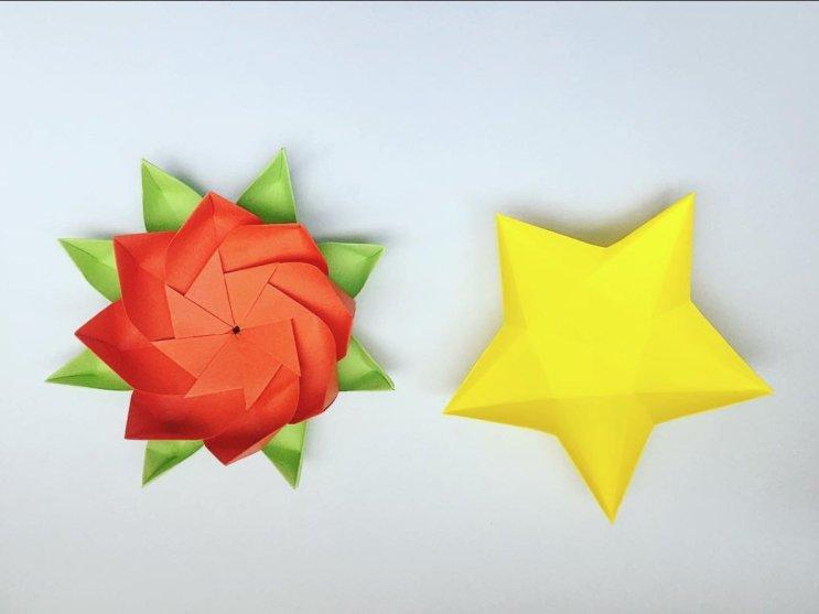 Origami Lotus Flower & Star Bowl, photo by emhorta