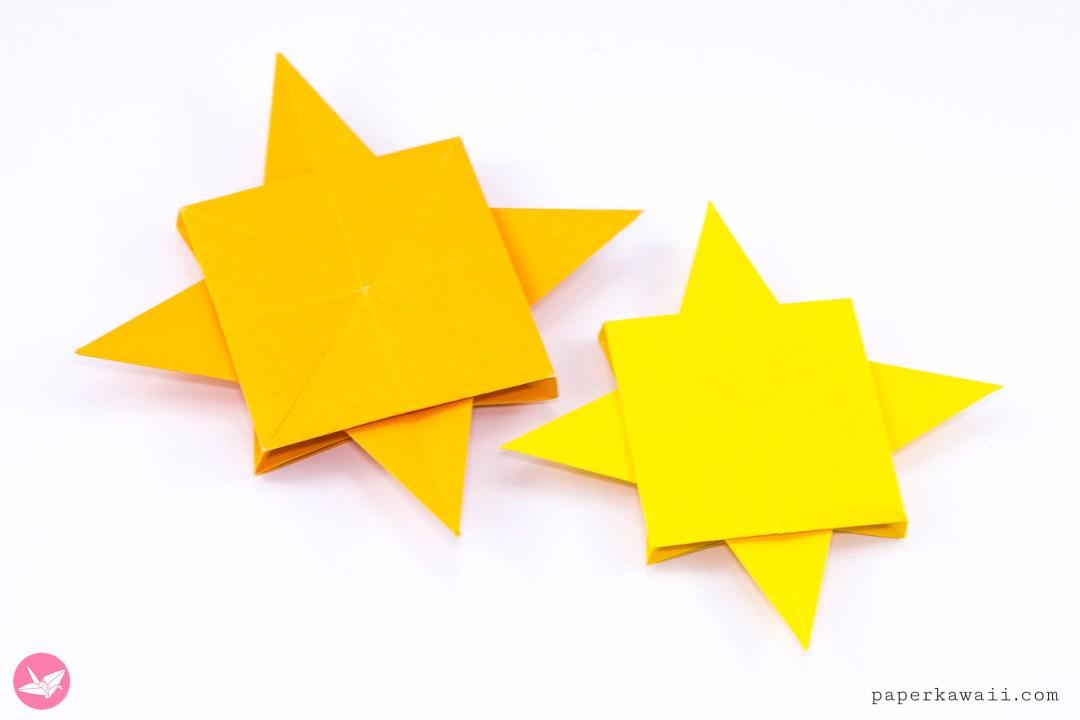 Origami Compass Rose Star Tutorial via @paper_kawaii
