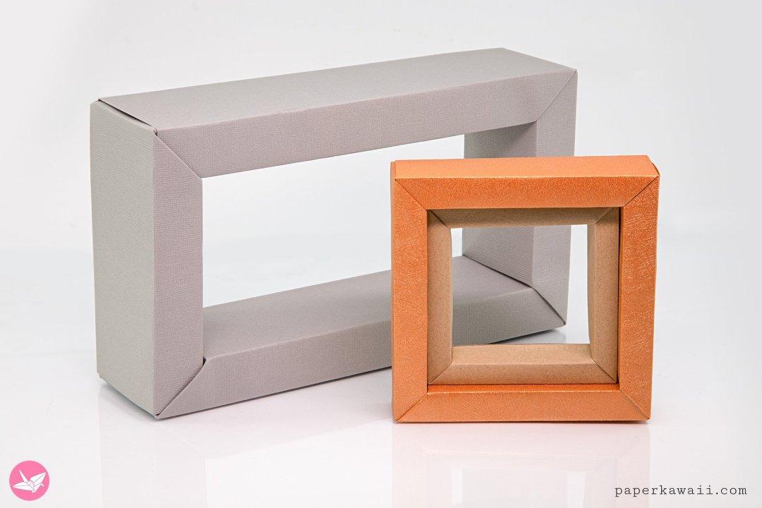 Modular Rectangular Origami Frame Tutorial via @paper_kawaii