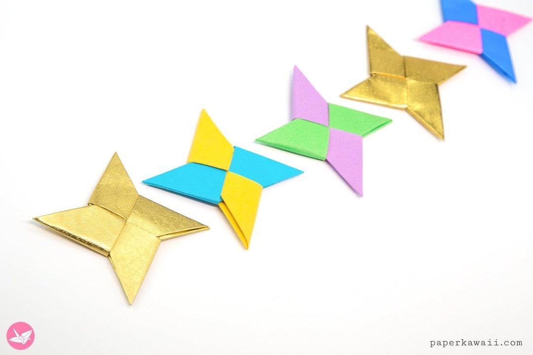 Easy Origami Ninja Star Tutorial via @paper_kawaii