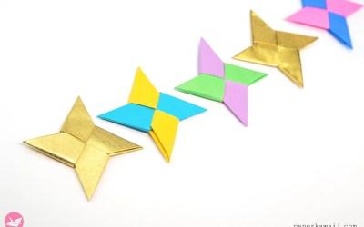 Easy Origami Ninja Star Tutorial