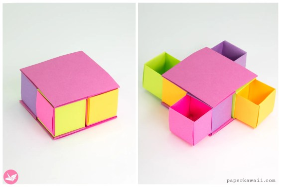 Origami Secret Drawer Box Tutorial – Tetra Box