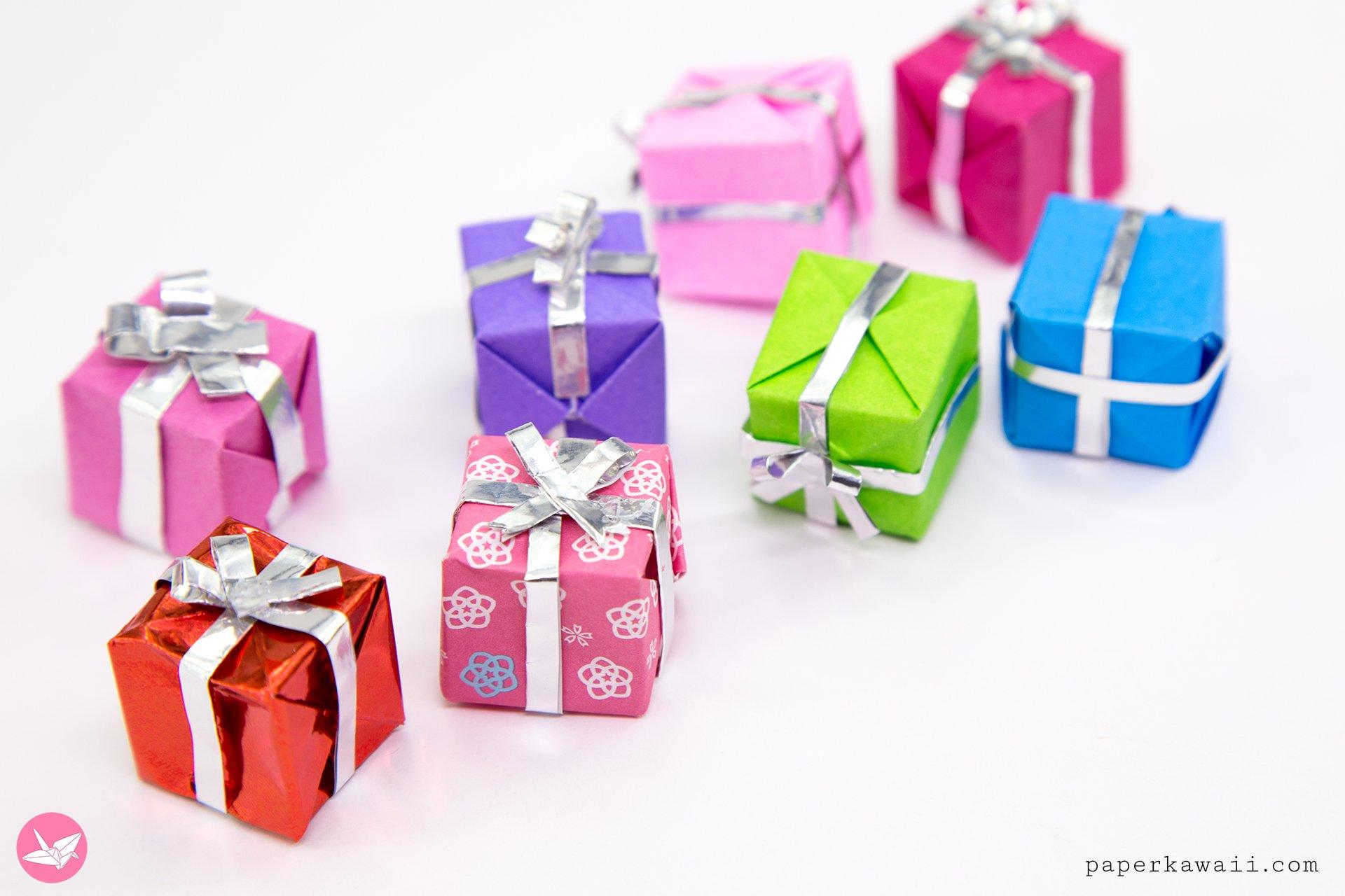 Cute Mini Origami Presents Tutorial - Paper Kawaii - photo#31