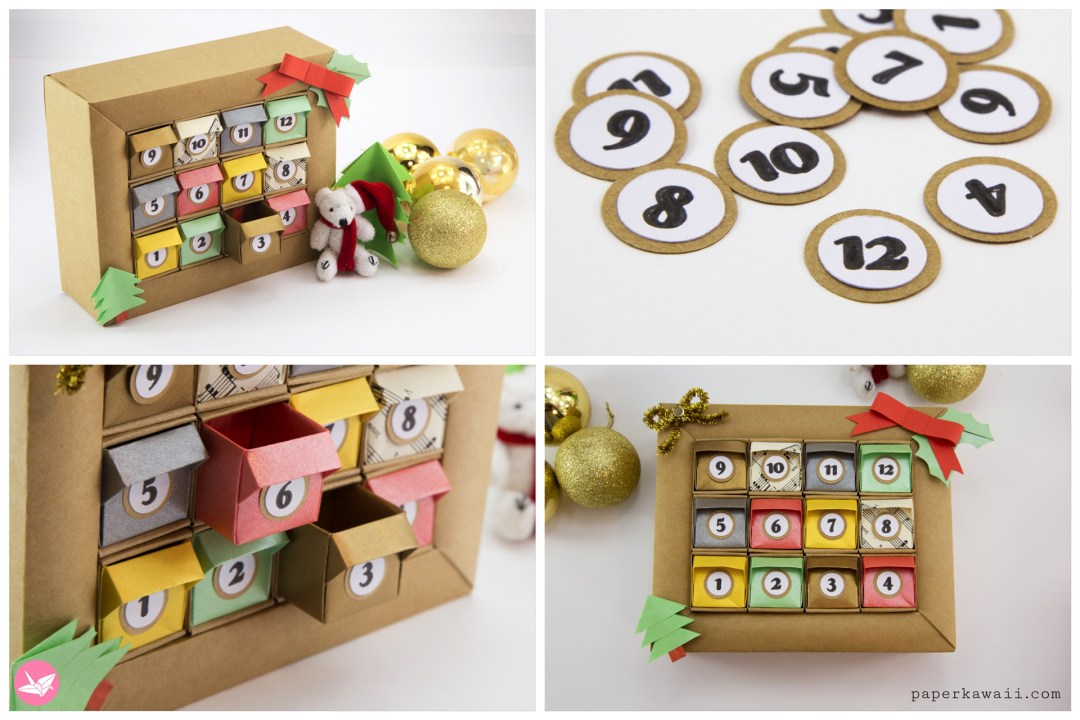 DIY Origami Advent Calendar Box Tutorial via @paper_kawaii