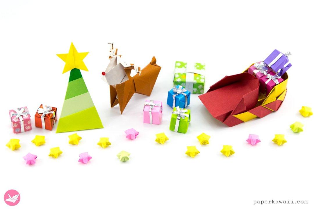 Simple Origami Christmas Tree Tutorial via @paper_kawaii