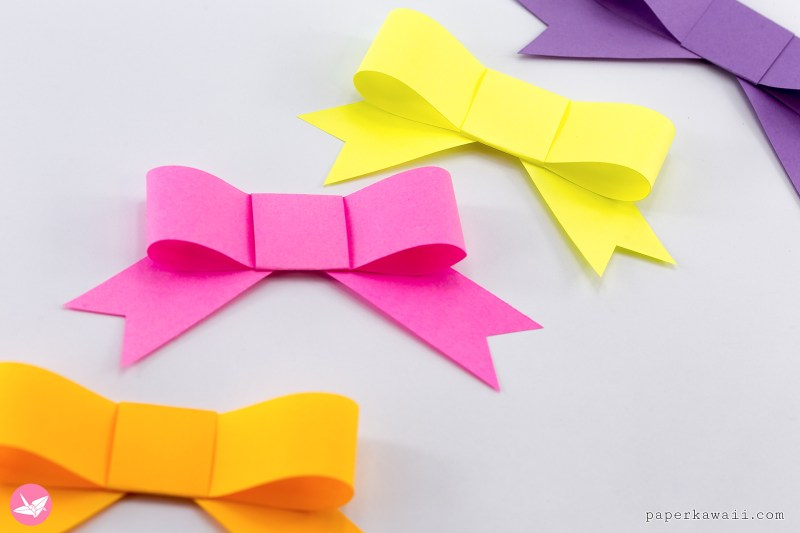 Origami Bow - How to make a Paper Bow easy step by step - YouTube | 533x800