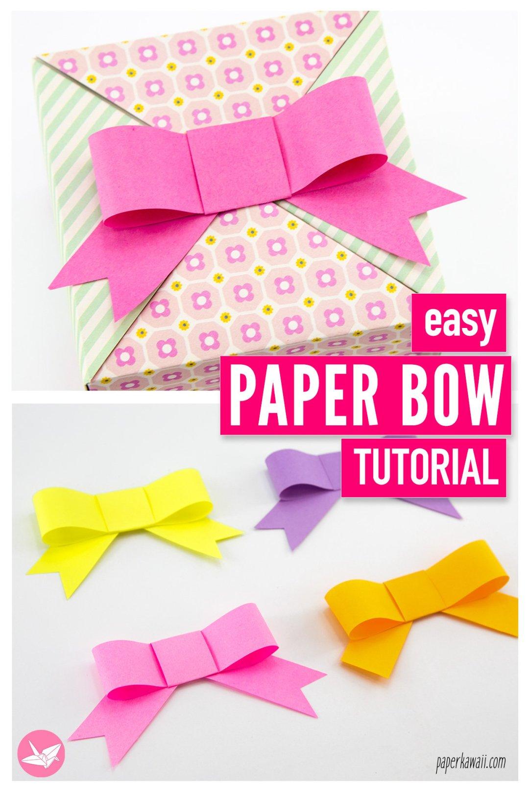 Easy Paper Bow Tutorial via @paper_kawaii
