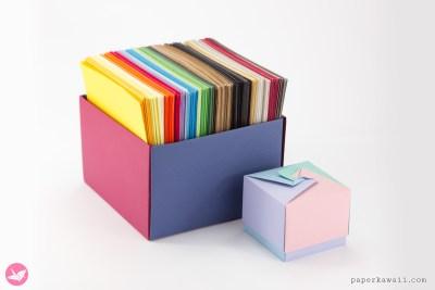 LEARNIGAMI - Modular Origami Boxes - Ebook & Tutorials via @paper_kawaii