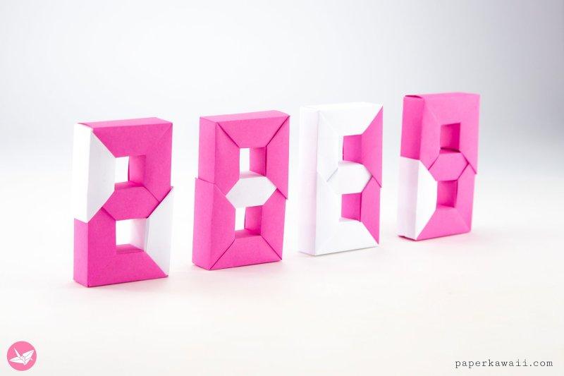 3D Origami Numbers Tutorial - 2019 Happy New Year! via @paper_kawaii