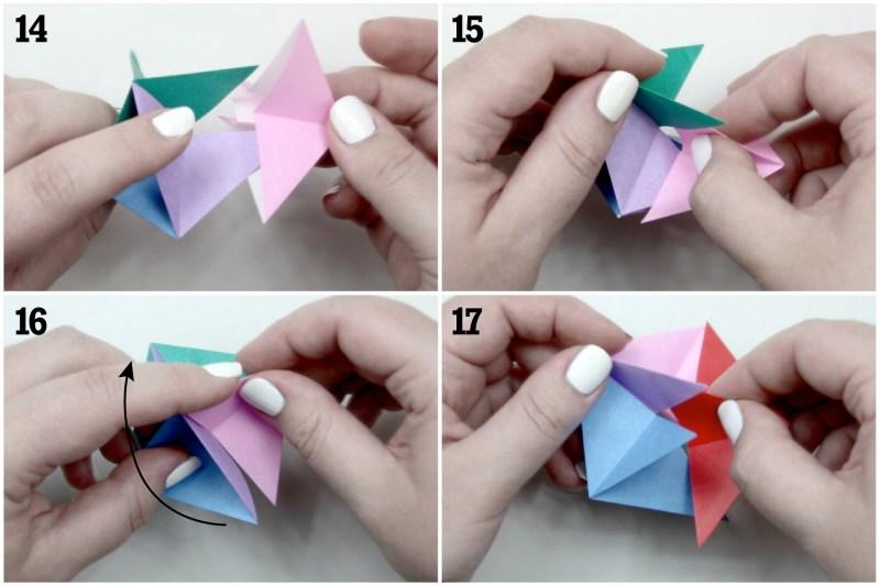 Origami Modular Spinning Top Folding Instructions | 533x800
