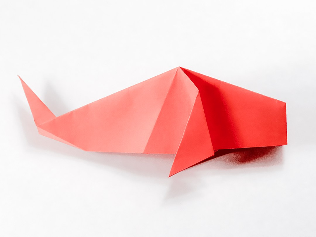 ORIGAMI WHALE   Designed and folded by myself from one uncut…   Flickr   810x1080