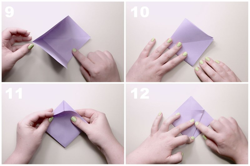 Step by Step Origami flower Instructions | ... glory origami videos privacy  policy diagrams origami … | Origami lily, Origami flowers instructions,  Origami diagrams | 533x800